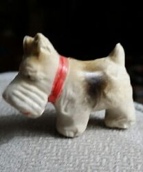 Vintage plastic SCOTTIE TERRIER DOG PUPPY FIGURINE TOY