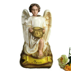 Antique Statue Angel French Missionary Money Box Piggy Bank Merci Collector Htf