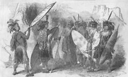 Knightsbridge. Zulu Negroes At The St George's Gallery. South Africa, 1853