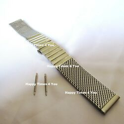 Solid Menand039s Mesh Stainless Steel Watch Band Strap Bracelet Movado Replacement