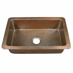 Barclay 6921-ac Rhodes 32 Single Bowl Drop-in Sink/hammered Antique Copper