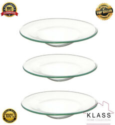 3 X Glass Oil Burner Large Replacement Dish Spare Bowl Scented Yankee Candles
