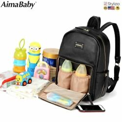 NEW Baby Diaper Bag Organizer Pu Leather Fashion Mummy Maternity Backpack Brand