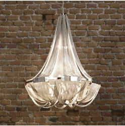 LED Aluminum Chain Chandelier Living Room Ceiling Light Fixtures Hotel hall lamp