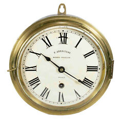 Antique Ship Clock P.orr And Sons,madras Rangoon - France - Works