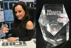 Lisa Ann Signed Personally Owned 2010 Xfanz Milf O The Year Award Trophy Bas Coa