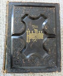 Antique Holy Bible Holmanand039s Edition 1879 Gold Edge Rare