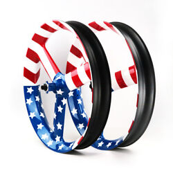 Nextie Wild Dragon Tri Spoke 90mm Wide Carbon Fiber Fat Bike 26and039and039 Tubeless 1pair