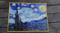 The Starry Night Painting Patch Vincent Van Gogh Patch 8 X 11 Inch Embroidery