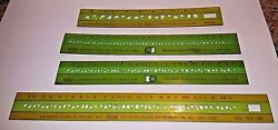 Lot Of 4 Wrico Lettering Guide Templates 90 120 140 240 Wood-regan Instrument