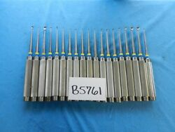 Aesculap Codman V. Mueller Orthopedic Straight And Angled Curettes Lot Of 19