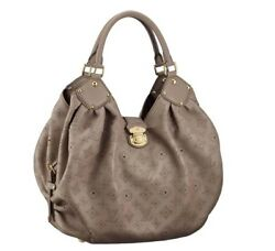 Authentic Vintage Louis Vuitton Mahina XL Taupe Leather Hobo Bag (Pre-Owned)
