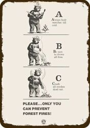 1969 Smokey The Bear Stop Forest Fire Vintagelook Decorative Replica Metal Sign