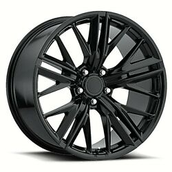 Fits 20 9 10 2017 Zl1 Staggered Black Wheels Rims For Camaro 5th 6th Gen