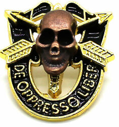 Special Forces Skull Crest Di Pin Uniform Us Army Sf Airborne Sog Insignia Gold