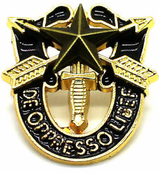 Special Forces Crest Di Pin Us Army Sf Star Sog Insignia Gold Lapel