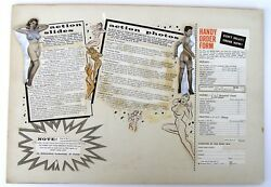 1950's Ad Layout For Girlie Magazine. Photos And Movie Descriptions, Order Form