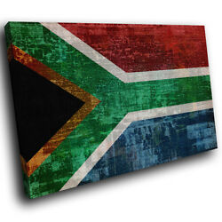 Ab147 South African Flag Retro Modern Abstract Canvas Wall Art Picture Prints