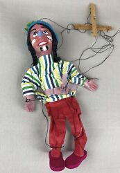Native American Indian Vintage 1960s Mexican Folk Art String Puppet Marionette