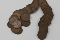 Full Roll 1909 V.d.b. Lincoln Cents, 50 Coins