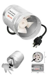 100 CFM Booster Fan Inline Duct Vent Blower for HVAC Exhaust and Intake 4