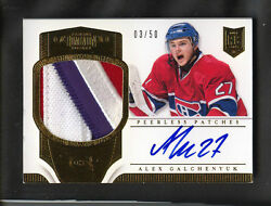 13-14 Panini Peerless Patches Alex Galchenyuk Rookie 03/50 Auto+patch 5clrs Wow