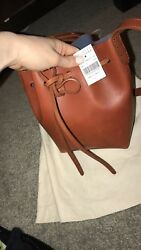 Mansur Gavriel Bucket Leather Bucket Bag Tan Mini