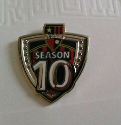 Metrostars Season 10 Mls Lapel Pin With Team Issued Thank You Note Rare Red...
