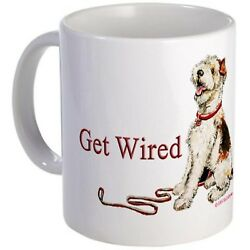 11 ounce Mug - Wire Fox Terrier Dog Walk - White Ceramic Coffee Cup