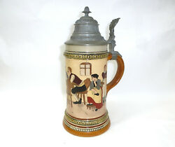 Large Beer Mug Hauber And Reuther About 1900 Jug