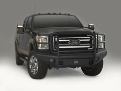 Fab Fours Black Steel Elite Full Guard Bumpers For 11-15 Ford F250/350/450/550sd