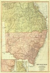 New South Wales And Queensland. Australia. Sydney Brisbane. Blackie 1893 Old Map