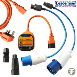Leaderman Earth Continuity And Polarity Test Kit Ecp-k5 With 230v Plugs And More