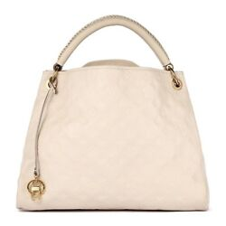 Louis Vuttions Artysy Monogram beige Empreinte leather hobo bag