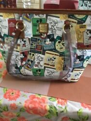 Disney Dooney Bourke Mickey Mouse Through the Years Shopper Tote NWT