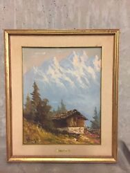 Wall Decoration-painting Art By Ernst Greyer 1907 Andminus 1983 With Wood Frame