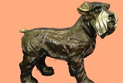 Handmade Bronze Sculpture English Terrier Dog Detailed Artwork Figurine Art