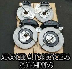 ✅ REAR & FRONT BRAKES ROTOR & CALIPERS 400MM  FITS 11-17 AUDI  S6 S7 S8 SET