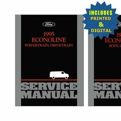 Oem Repair Maintenance Shop Manuals Cd And Bound For Ford Truck Econoline 1995