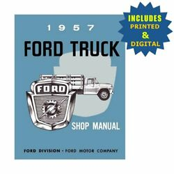 Oem Repair Maintenance Shop Manuals Cd And Bound For Ford Truck All Models 1957