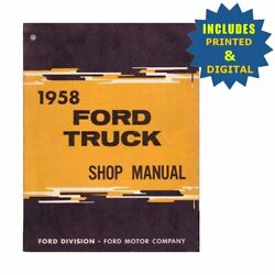 Oem Repair Maintenance Shop Manuals Cd And Bound For Ford Truck All Models 1958