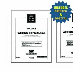 Oem Repair Maintenance Shop Manuals Cd And Bound For Ford Truck F150-250 1997