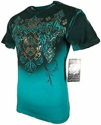 XTREME COUTURE by AFFLICTION Men T-Shirt MOMENTUM SHIFT Biker MMA GYM S-4X $40 $23.99