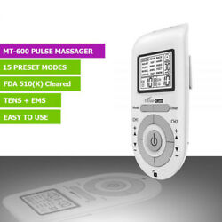 New 15 Mode Tens Ems Pulse Massager 16 Pad Fda Clear Assembled In Us W/warranty