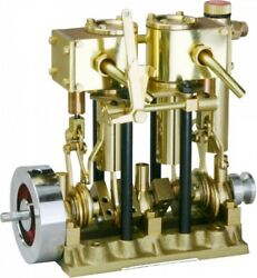 Saito Steam Engine T2dr For Model Ship 2-cylinder, Short Stroke New From Japan