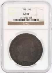 1799 P Ngc Xf 45 Silver Draped Bust Dollar 1 Coin Graded