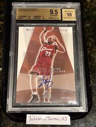 2003-2004 Sp Authentic LeBron James Auto Rookie 500 BGS 9.5 Gem Mint Cavs RARE