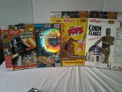 A Lot Of 4 Star War Vintage Cereal Boxes From Early 90's.
