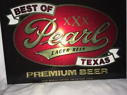 Pearl Lager Beer Tin Over Cardboard