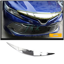 Abs Chrome Front Bumper Engine Hoods Frame K Fit For Toyota Camry 18-21 L Le Xle